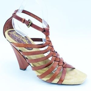 Sam Edelman Brown Saville Strappy Heels Sandals 9
